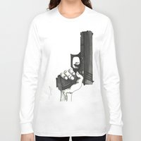 gun Long Sleeve T-shirts featuring GUN by Takeru Amano