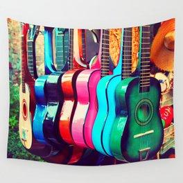 las guitarras. spanish guitars, Los Angeles photograph Wall Tapestry