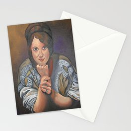 A Young German Woman In Traditional Dress Stationery Cards