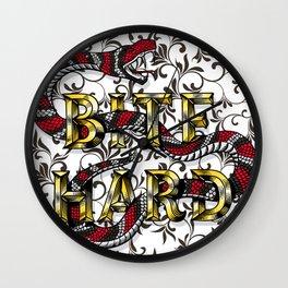 Bite Hard Wall Clock