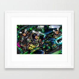 Alien Ship Framed Art Print