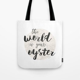 World is Your Oyster Tote Bag