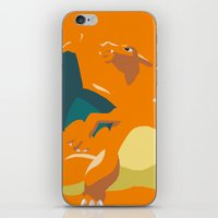 charizard iPhone & iPod Skins featuring Charizard by Rebekhaart