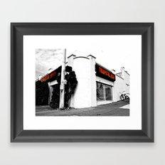Corner pet shop Framed Art Print