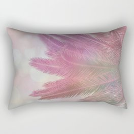 Tropical Palm Leaves In Pastel Pink Light Rectangular Pillow