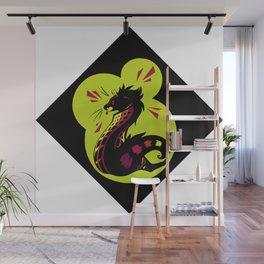 African Civet (Civettictis civetta) Watermelon/Lime Palette Wall Mural