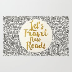 Let's Travel New Roads Rug