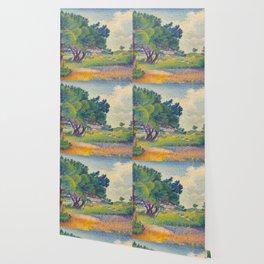 Small House at Saint Clair 1894 Henri-Edmond Cross Neo-Impressionism Pointillism Oil Painting Wallpaper