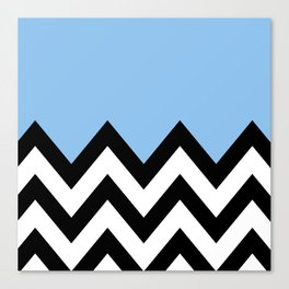 BLUE COLORBLOCK CHEVRON Canvas Print