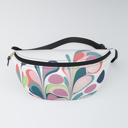 Colorful Abstract Floral Design Fanny Pack