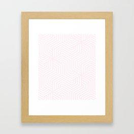 Lavender blush - pink - Minimal Vector Seamless Pattern Framed Art Print
