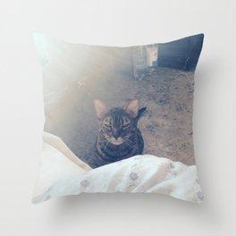 wake up, human Throw Pillow