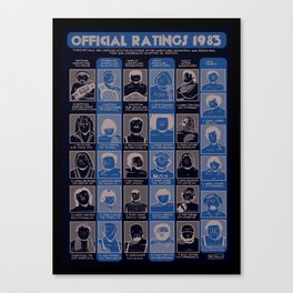 Official Ratings 1983 Canvas Print