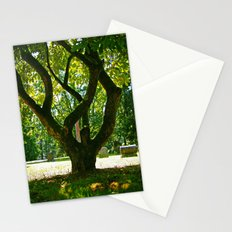 Cemetery tree Stationery Cards