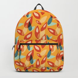 Orange Blue Yellow Abstract Autumn Leaves Pattern Backpack