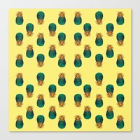 pineapples Canvas Prints featuring PINEAPPLES by Heaven7