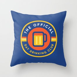 Day Drinking Club Throw Pillow