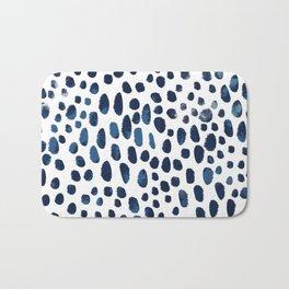 Blue Watercolour Spots Bath Mat