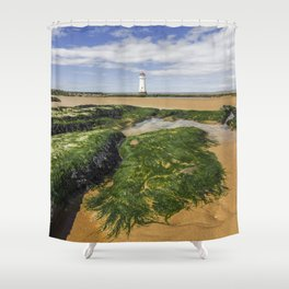 Perch Rock Lighthouse Shower Curtain