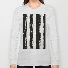Simply Cream and Black Stripes II Long Sleeve T-shirt