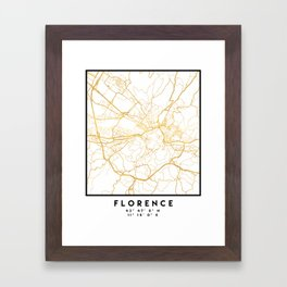 FLORENCE ITALY CITY STREET MAP ART Framed Art Print