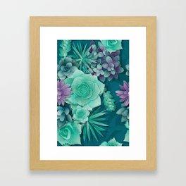Succulent Love I Framed Art Print
