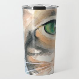 Cattitude II Watercolor Art Travel Mug