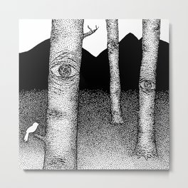 Nature is Watching Metal Print