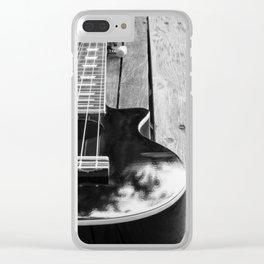 Black ukelele Clear iPhone Case