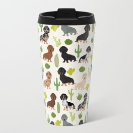 Dachshund cactus southwest dog breed gifts must have doxie dachsies Travel Mug