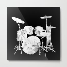 Invert drum Metal Print
