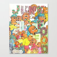 junk food Canvas Prints featuring JUNK FOOD by PIZZZA TIME