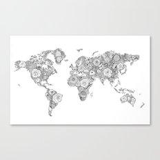 Worldmap Canvas Print