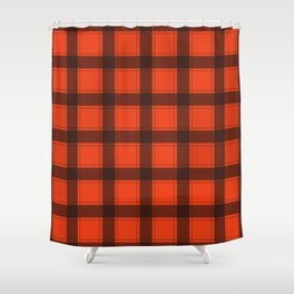 Classic Red Plaid Shower Curtain