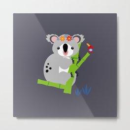 Lady Koala Metal Print