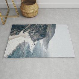 Beach Wall Art, Rocky Coast, Beach Print, Modern Wall Art Rug