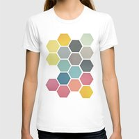 honeycomb T-shirts featuring Honeycomb II by Cassia Beck