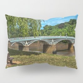 A Riverside Seat At Chepstow Pillow Sham