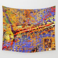 chicago Wall Tapestries featuring chicago by donphil