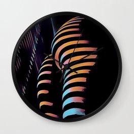 7485s-MAK Zebra Striped Curves Butt Thighs Bum Ass Rear Bottom Wall Clock