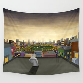 The Fall in Big City, Peanut Butter Zombie Print No.1 Wall Tapestry