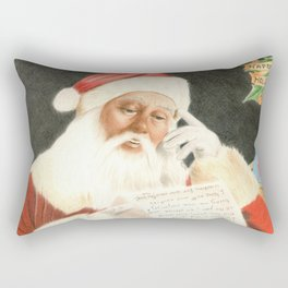 Letter to Santa Claus Rectangular Pillow