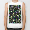 Geometrical retro lime green neon purple 80's abstract pattern by pink_water
