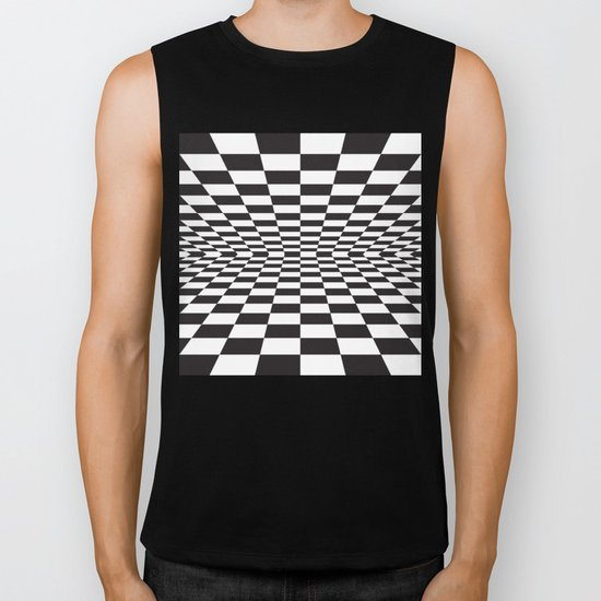Black and white back and forth - Optical game 15 Biker Tank