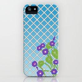Morning Glory Pattern Blue Sky iPhone Case