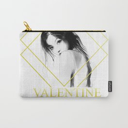 A Girl Has No Valentine Carry-All Pouch