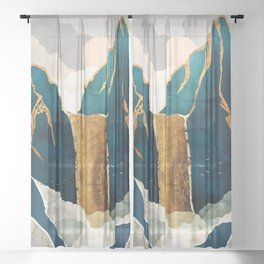 Golden Waterfall Sheer Curtain