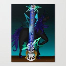 Fusion Keyblade Guitar #187 - Unicornis' Keyblade & Young Xehanort's Keyblade Canvas Print