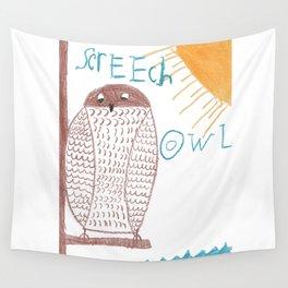 owl screech Wall Tapestry