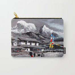 Panoramic View Of Everest Base Camp Carry-All Pouch
